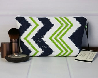 Cosmetic Pouch - Small Makeup Pouch - Chevron Toiletry Bag - Travel Makeup Bag - Travel Toilet Bag - Premier Prints - Gift fir Mom