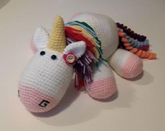 Amigurumi multicolor Unicorn / / handmade / / crochet plush