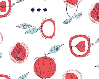 Orchard in White fabric from the Fruit Stand Fabric Collection by Jane Farnham for Camelot Cottons