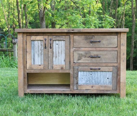 Rustic Vanity 48 Reclaimed Barn Wood Vanity W Barn