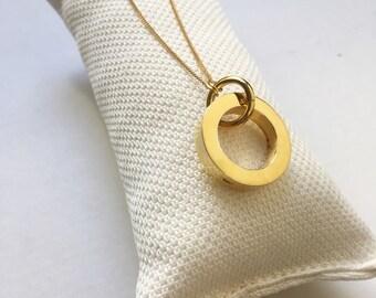Collar Personalizado con cadena y aro /RONDANA/plata/Vermeil