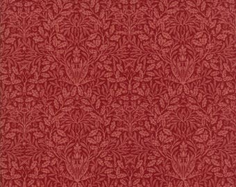 William Morris 2017 Fabric - Half Yard - Moda Fabric Reproduction Floral Acorn 1879 Garnet Red Victoria & Albert Museum 7307 26