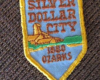 Vintage Silver Dollar City 1880 Ozarks Patch Free Shipping