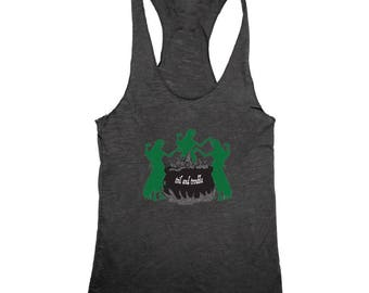 Double Double Toil and Trouble Racerback Tank