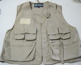 Kassnar Fishing Vest, Men, Size L, Hong Kong, Vintage