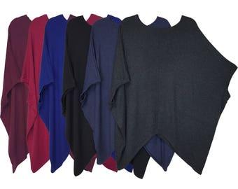 Italian Style Lagenlook Tunic T-shirt Top Poncho Plus Size 16 18 20 22 24