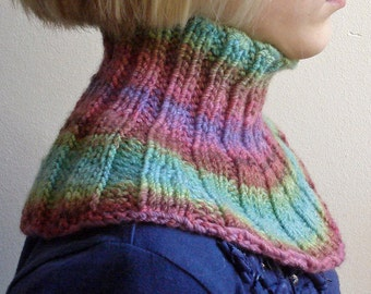 Knitting PATTERN - warm childrens cowl
