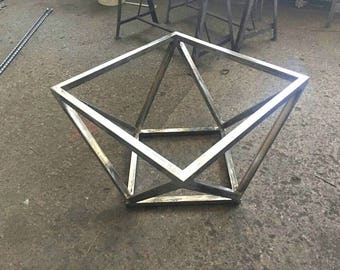 Delightful Metal Coffee Table Base, Steel Coffee Table Base, Modern Coffee Table,  Geometric Table
