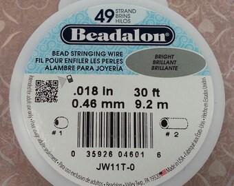 Beadalon Bead Stringing Wire  49 Strand, .018 Thick