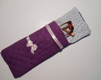 cotton lined and quilted eyeglass or Sunglass cases
