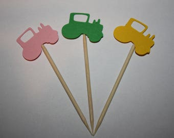 24 mini food picks -  Pink Tractor