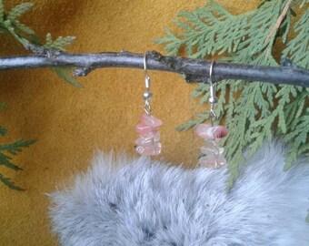 Pink Shards designer earrings