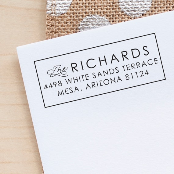 Modern Address Stamp, Rubber Address Stamp, Return Address Stamp, Custom Address stamp, Wedding Address Stamp, personalized gift for women