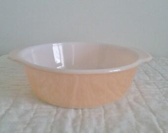 Fire King TM Reg Peach Lustre 2 Quart Casserole Dish No Lid // Fire King Casserole Dish // Peach Lustre Casserole