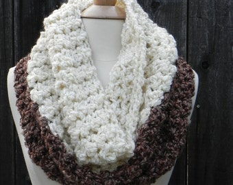 Easy Crochet Pattern, Chunky Cowl scarf, reversible cowl, DIY scarf