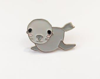 Sea Lion Enamel Pin - Pinniped - Seal Enamel Pins - Marine Life Lapel Pin