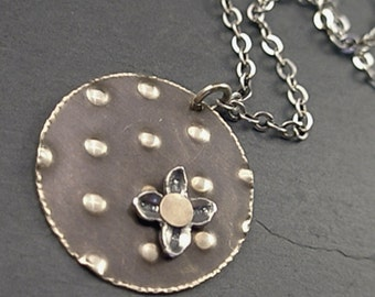 Sadie Necklace - Sterling and Vintaj Brass