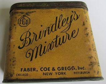 Rare Antique Brindley's Mixture Tobacco Tin