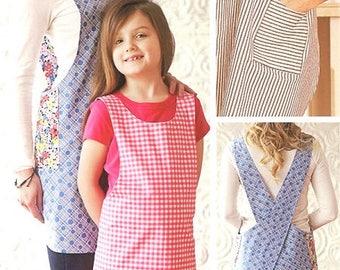 Apron Sewing Pattern - Crossback Apron Pattern - Apron Patterns - Sizes Small to 2XL