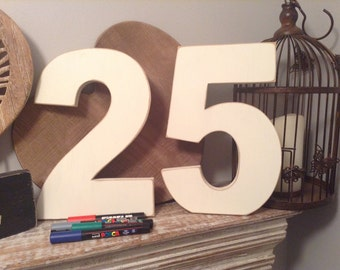 Signature Wooden Letters & Numbers - Party Guest Book - Price per letter or number