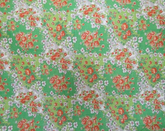 Vintage floral cotton 1 1/4 yard x 35 inches more available SALE