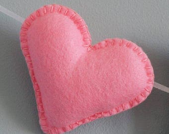 Felt name bunting - large felt name garland - felt letters - hearts - personalised - bunting - child's decor - heart - felt - MADE TO ORDER