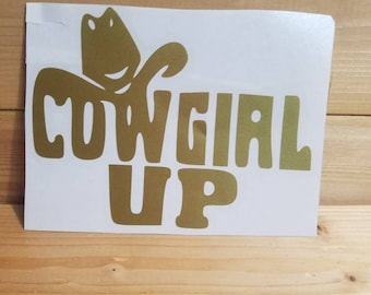 Cowgirl up decal
