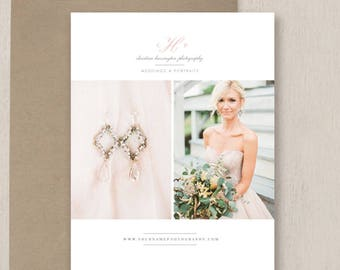 Magazine Template for Photographers - Photography Templates - Wedding Photography Pricing Guide - Wedding Brochure Design