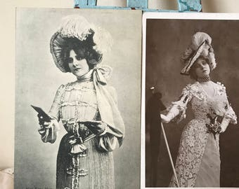 Edwardian Theatre Actress Postcards - Edna May Collecible Vintage Postcards.