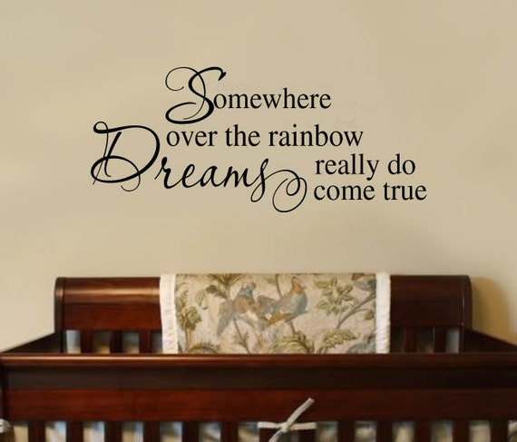 Somewhere Over the Rainbow Decal by wallstory
