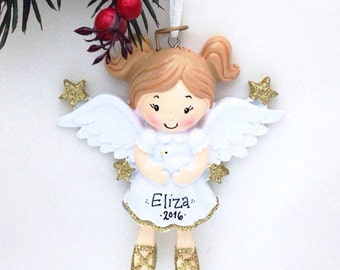 Angel Ornament / Personalized Christmas Ornament / Personalized Toddler Ornament / Personalized Child Ornament