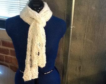 short, soft, fuzzy scarf.