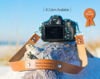 Custom Leather camera strap, vintage camera strap, leather camera strap, anniversary gift personalized strap, fathers day gift, gift for him