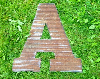 """20"""" letters made from Repurposed Barn Tin"""