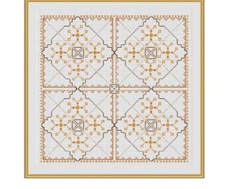Ornament Pillow Case Pattern. Pillow Cover Cross Stitch Pattern. Pillow Case Cross Stitch. Home Decor. PDF Instant Download. DIY.
