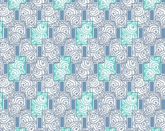 Downton Abbey Abbey Lady Rose Collection A 7614 EC - 100% Cotton Fabric by Andover Fabrics