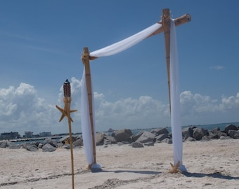 Wedding Arch/Beach Wedding Arch/Bamboo Chuppah/Bamboo Arch/Wedding Arch Draping/Beach Weddings/Beach Wedding Decorations/Bamboo Arbor