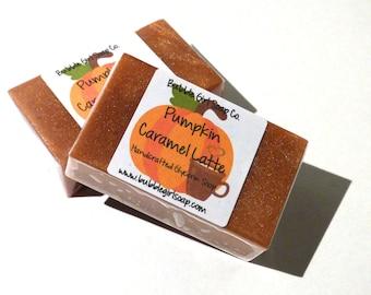 Pumpkin Caramel Latte Fall Mini GUEST BAR Glycerin Soap Handmade Vegan Soap