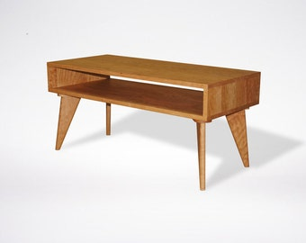 Modern Coffee Table Mid Century Modern Solid Wood Handmade Organic Finish Contemporary