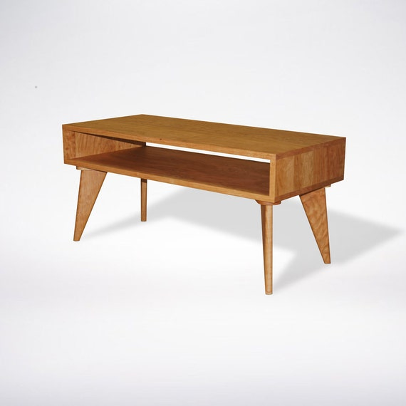Modern Coffee Table Mid Century Modern Solid Wood Handmade