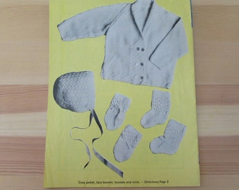 Vintage (1950s) knitting patterns, 'Year Round Bootees', Paragon Bootee Knitting Book No. 60