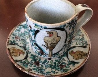 Japanese Kutani cup and saucer.
