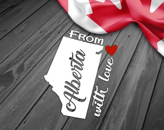 CANADA ALBERTA PROVINCE, Car Window Decal, Water Bottle Mug Decal, Smartphone Decal, Tablet Decal, iPad Decal, Laptop Decal, Car Sticker