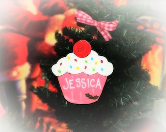Personalized Ornament Cupcake Country Christmas Tree Decoration CUPCAKES