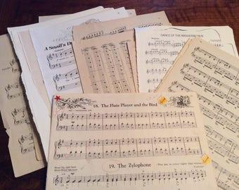 Vintage sheet music packs