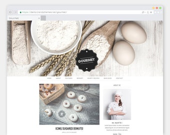 "Responsive Cooking WordPress Theme Blog ""Gourmet"" 