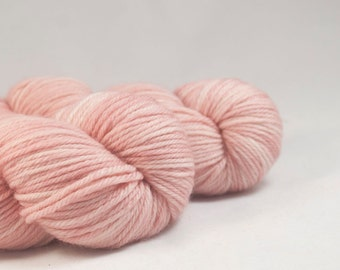 A Lady Without Passport - Light Pink Hand Dyed Superwash Merino DK Yarn