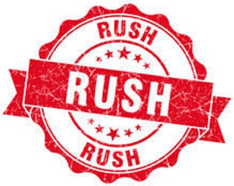 RUSH MY ORDER!  Rush Processing for Needmore Heart Orders (Add-On)