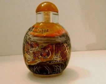 inside (reverse) painted snuff bottle
