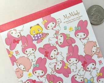 My Melody Memo Pad - Melody & Her Friends - Pink / White Cover